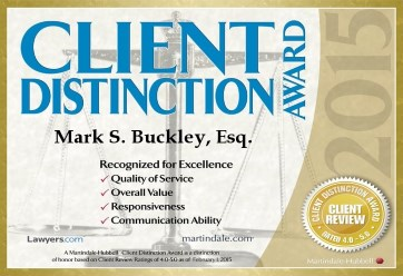 Client Distinction Award 2015